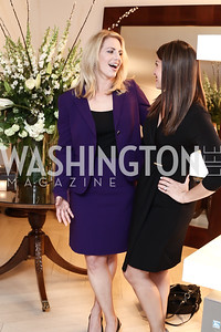 CCTV America's Jessica Stone, Gray TV's Jacqueline Policastro. Photo by Tony Powell. 2016 WHC Press for the Press Party. April 27, 2016