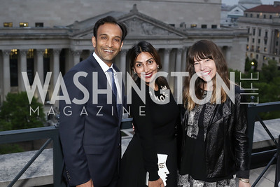 DJ and Devika Patil, Emily Heil. Photo by Tony Powell. 2016 WHC Press for the Press Party. April 27, 2016