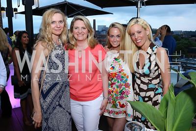 Lada Rebrova, Karen Schandler, Erin Murtha, Ashley Byrne. Photo by Tony Powell. WL Launch Into Summer. The Graham. June 24, 2016
