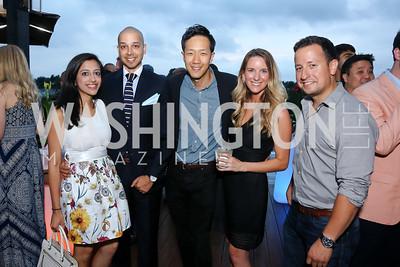 Neeha Khan, Sim Khan, Chaucer Hwang, Carolyn Fung, Doug Sonders. Photo by Tony Powell. WL Launch Into Summer. The Graham. June 24, 2016