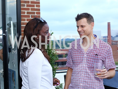 Dr. Toyin Idowu, Nathan Kron. Photo by Tony Powell. WL Launch Into Summer. The Graham. June 24, 2016