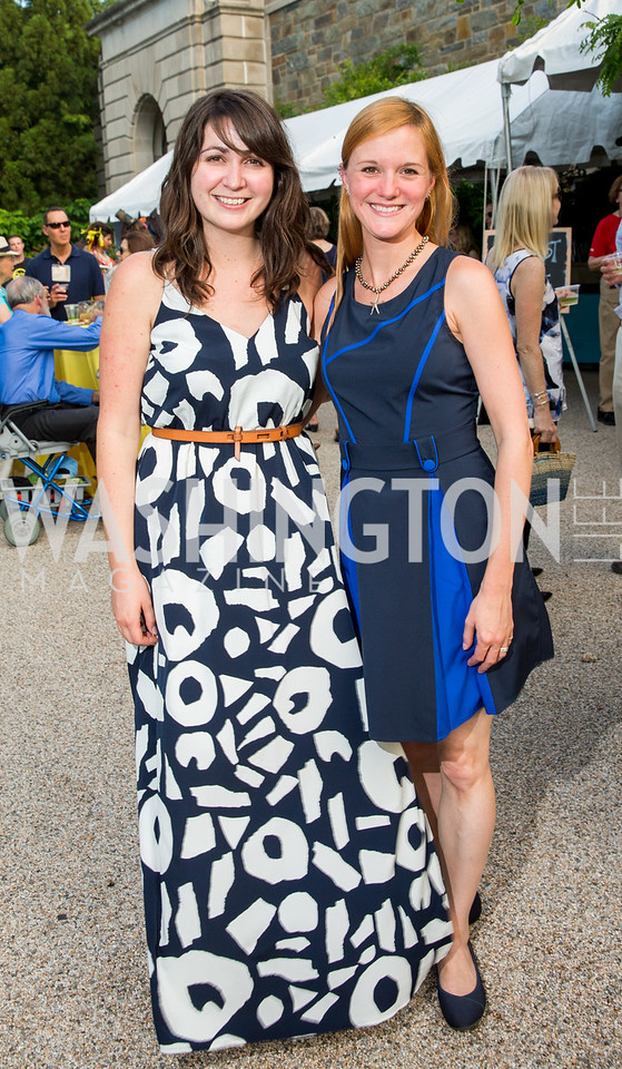 Erika Novak, Elise Bernardoni. Photo by Erin Schaff. 2016. Washed Ashore: Art to Save the Sea VIP Reception. Smithsonian National Zoo Elephant Community Center. May 26, 2016.