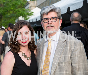 Devin Murphy, David Wildt. Photo by Erin Schaff. 2016. Washed Ashore: Art to Save the Sea VIP Reception. Smithsonian National Zoo Elephant Community Center. May 26, 2016.