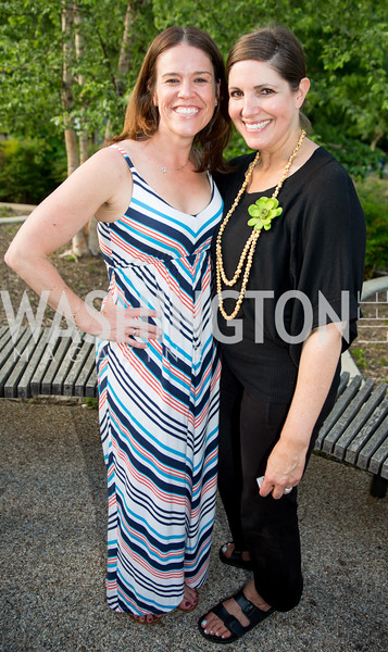 Carin Levine, Pam Bucklinger. Photo by Erin Schaff. 2016. Washed Ashore: Art to Save the Sea VIP Reception. Smithsonian National Zoo Elephant Community Center. May 26, 2016.