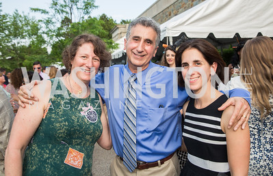 Cheryl Braunstein, Chuck Fillah, Kara Blond. Photo by Erin Schaff. 2016. Washed Ashore: Art to Save the Sea VIP Reception. Smithsonian National Zoo Elephant Community Center. May 26, 2016.