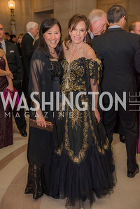 Janice Kim, Carole Feld, Washington Ballet Spring Gala, The Bowie Ball, at the Mellon Auditorium, April 29, 2016, photo by Ben Droz.