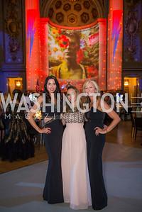 Amy Baier, Pilar O'Leary, Jean-Marie Fernandez, Washington Ballet Spring Gala, The Bowie Ball, at the Mellon Auditorium, April 29, 2016, photo by Ben Droz.
