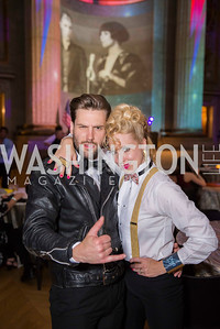 Dan Roberge, Elizabeth Gaither, Washington Ballet Spring Gala, The Bowie Ball, at the Mellon Auditorium, April 29, 2016, photo by Ben Droz.
