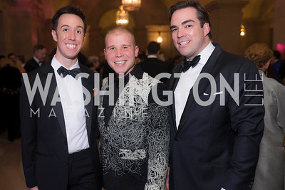John Phillgin, Paul Ashe, Carl Bedell, Washington Ballet Spring Gala, The Bowie Ball, at the Mellon Auditorium, April 29, 2016, photo by Ben Droz.