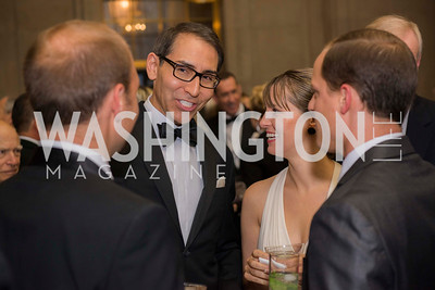 Arthur Espinoza, Jr., and friends, Washington Ballet Spring Gala, The Bowie Ball, at the Mellon Auditorium, April 29, 2016, photo by Ben Droz.