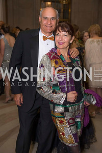 Jonathan Kahan, Linda Roth, Washington Ballet Spring Gala, The Bowie Ball, at the Mellon Auditorium, April 29, 2016, photo by Ben Droz.