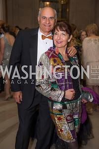 Jonathan Kahan, Linda Roth, Washington Ballet Spring Gala, The Bowie Ball, at the Mellon Auditorium, April 29, 2016, photo by Ben Droz.