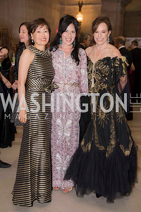 Janice Kim, Nora Maccoby, Carole Feld, Washington Ballet Spring Gala, The Bowie Ball, at the Mellon Auditorium, April 29, 2016, photo by Ben Droz.