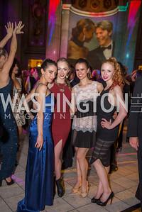 Nicole Graniero, Sarah Savage, Leah Morris, Kelly Williams, Washington Ballet Spring Gala, The Bowie Ball, at the Mellon Auditorium, April 29, 2016, photo by Ben Droz.