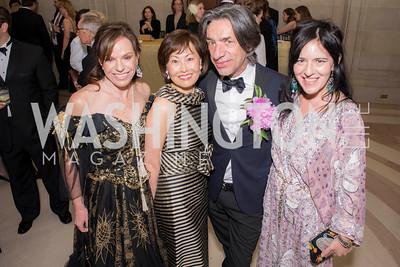 Carole Feld, Janice Kim, Septime Webre, Nora Maccoby, Washington Ballet Spring Gala, The Bowie Ball, at the Mellon Auditorium, April 29, 2016, photo by Ben Droz.