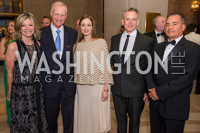 Kay Kendall, Jack Evans, Julie Kent, Victor Barbee, Fidel Colin, Washington Ballet Spring Gala, The Bowie Ball, at the Mellon Auditorium, April 29, 2016, photo by Ben Droz.