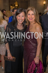 Janice Kim, Fariba Jahanbani, Washington Ballet Spring Gala, The Bowie Ball, at the Mellon Auditorium, April 29, 2016, photo by Ben Droz.