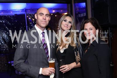 Rob Danegger and Virginia Coyne, Lois Romano. Photo by Tony Powell. WL & Cafe Milano 25th Anniversary. December 5, 2016