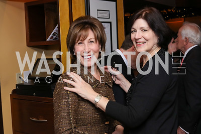 Catherine Reynolds, Roxanne Roberts. Photo by Tony Powell. WL & Cafe Milano 25th Anniversary. December 5, 2016