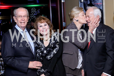 Bill McSweeny, Ann Hand, Dorothy McSweeny, Lloyd Hand. Photo by Tony Powell. WL & Cafe Milano 25th Anniversary. December 5, 2016
