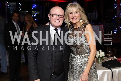 Franco Nuschese, Dr. Jill Biden. Photo by Tony Powell. WL & Cafe Milano 25th Anniversary. December 5, 2016