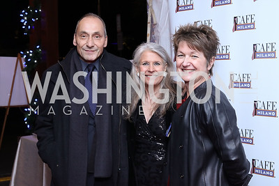 Thomas Krahenbuhl, Barbara Hawthorn, Dorothy Kosinski. Photo by Tony Powell. WL & Cafe Milano 25th Anniversary. December 5, 2016
