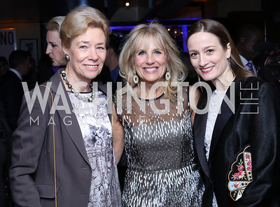 Dorothy McSweeny, Jill Biden, Julie Kent. Photo by Tony Powell. WL & Cafe Milano 25th Anniversary. December 5, 2016