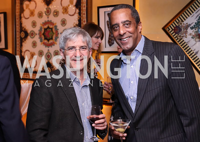 Michael Isikoff, David Mercer. Photo by Tony Powell. WL & Cafe Milano 25th Anniversary. December 5, 2016