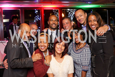 Tony Lewis, Brett Greene, Charlotte Reid, Kevin Friend, April Byrd Richmond and Roger Richmond, Katherine Branch, Frederic Yonnet and Carla Sims. Photo by Tony Powell. WL & Cafe Milano 25th Anniversary. December 5, 2016