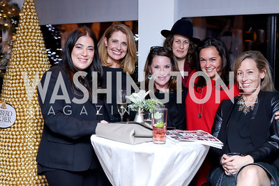 Jay Newton Small, Rebecca Cooper, Kimball Stroud, Julia Cohen, Melissa Torres, Ingrid Zimmer. Photo by Tony Powell. WL & Cafe Milano 25th Anniversary. December 5, 2016