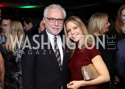 Wolf Blitzer, Michelle Kosinski. Photo by Tony Powell. WL & Cafe Milano 25th Anniversary. December 5, 2016