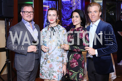 Damir and Amra Fazlic, Nazgol and Kevin Fearnow. Photo by Tony Powell. WL & Cafe Milano 25th Anniversary. December 5, 2016