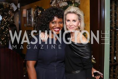 Aba Kwawu, Mary Haft. Photo by Tony Powell. WL & Cafe Milano 25th Anniversary. December 5, 2016