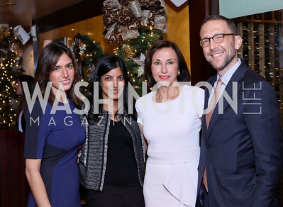 Kimberley Doyle, Parita Selfridge, Monaco Amb. Maguy Maccario Doyle, Chief of Protocol Amb. Peter Selfridge. Photo by Tony Powell. WL & Cafe Milano 25th Anniversary. December 5, 2016