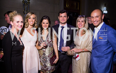 Lily Bowles, Kristen Shibley, Carolina Ernst, Lisandro Müller Lohidoy, Isabel de la Cruz Ernst, Ricardo Ernst. Photo by Erin Schaff. 2016. Washington International School 50th Anniversary Golden Gala. Andrew W. Mellon Auditorium. May 14, 2016.
