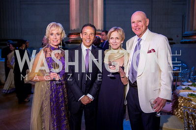 Kathy Kemper, Ricardo Ernst, Susan Lewis, Jim Valentine. Photo by Erin Schaff. 2016. Washington International School 50th Anniversary Golden Gala. Andrew W. Mellon Auditorium. May 14, 2016.