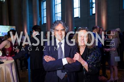 Neville Beharie, Joan Lombardi. Photo by Erin Schaff. 2016. Washington International School 50th Anniversary Golden Gala. Andrew W. Mellon Auditorium. May 14, 2016.