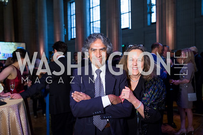 Neville Beharie, Joan Lombardi. Photo by Erin Schaff. 2016. Washington International School 50th Anniversary Golden Gala. Andrew W. Mellon Auditorium. May 14, 2016.