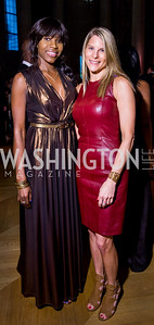 Desiree Clinton, Dorothy Stein. Photo by Erin Schaff. 2016. Washington International School 50th Anniversary Golden Gala. Andrew W. Mellon Auditorium. May 14, 2016.