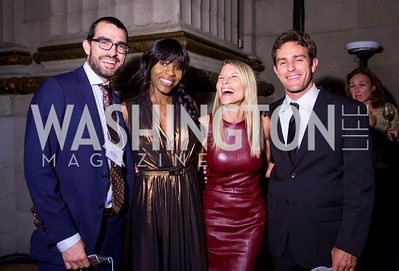 Tim and Desiree Clinton, Dorothy Stein, Jeff Stoike. Photo by Erin Schaff. 2016. Washington International School 50th Anniversary Golden Gala. Andrew W. Mellon Auditorium. May 14, 2016.