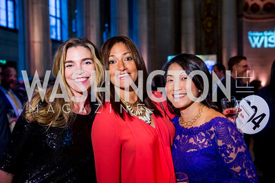 Sarah Olsten Francesca Laursen, Elizabeth Ahn. Photo by Erin Schaff. 2016. Washington International School 50th Anniversary Golden Gala. Andrew W. Mellon Auditorium. May 14, 2016.