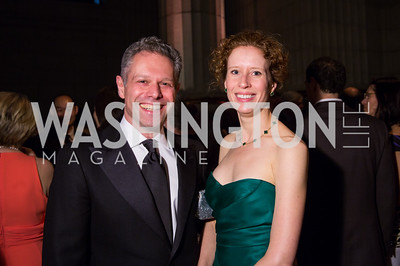 Mike and Rachel Zamsky. Photo by Erin Schaff. 2016. Washington International School 50th Anniversary Golden Gala. Andrew W. Mellon Auditorium. May 14, 2016.