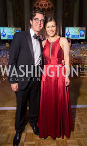 Alexander and Katherine Attie. Photo by Erin Schaff. 2016. Washington International School 50th Anniversary Golden Gala. Andrew W. Mellon Auditorium. May 14, 2016.