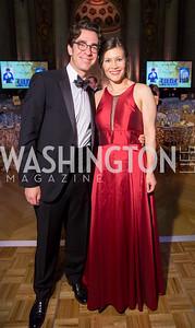 Alexander and Katherine Attie. Photo by Erin Schaff. 2016. Washington International School 50th Anniversary Golden Gala. Andrew W. Mellon Auditorium. May 14, 2016.