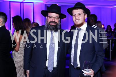 Rabbi Levi Shemtov, Rabbi Menachem Shemtov. Photo by Tony Powell. Watergate Grand Re-Opening. June 14, 2016