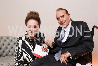 Columnist Cindy Adams, Former Sen. Bob Dole. Photo by Tony Powell. Watergate Grand Re-Opening. June 14, 2016
