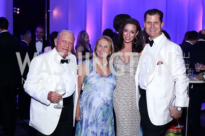 Giuseppe and Mercedes Cecchi, Kristin and John Cecchi. Photo by Tony Powell. Watergate Grand Re-Opening. June 14, 2016