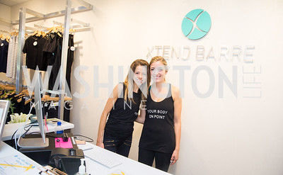 Elizabeth Lorber, Audrey McGonigle. Photo by Erin Schaff. Xtend Barre Arlington Launch Party. Xtend Barre Arlington. September 10, 2016.