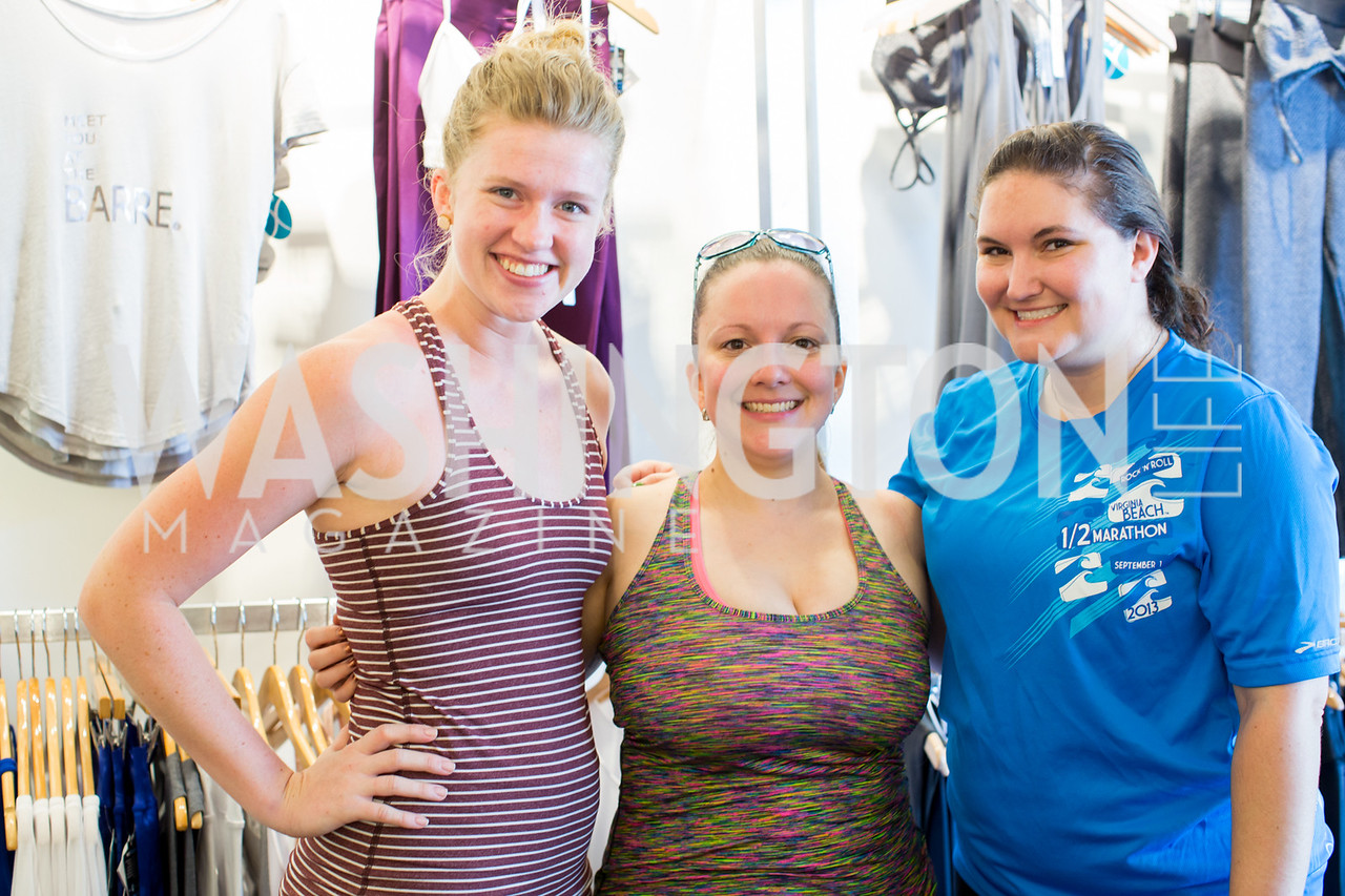 Kasey Darling, Lea Dulani, Laura Delhomme. Photo by Erin Schaff. Xtend Barre Arlington Launch Party. Xtend Barre Arlington. September 10, 2016.