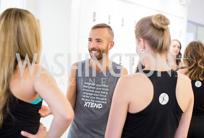 Timur Tugberk. Photo by Erin Schaff. Xtend Barre Arlington Launch Party. Xtend Barre Arlington. September 10, 2016.